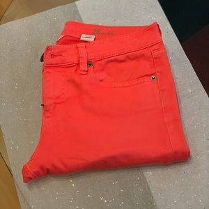 J. Crew Toothpick Ankle Jean in coral